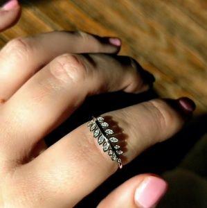 cf78f578b AmberRenée & Co Jewelry - Sterling Silver Leaf Ring 925 Bijoux Dainty Petite